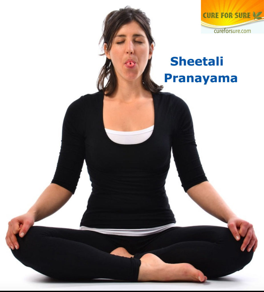 Sheetali pranayama